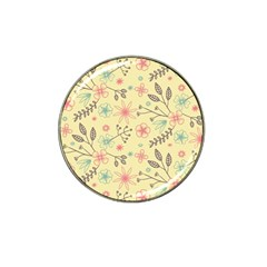 Seamless Spring Flowers Patterns Hat Clip Ball Marker (10 pack)