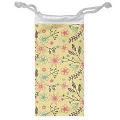 Seamless Spring Flowers Patterns Jewelry Bag