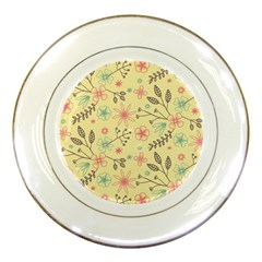 Seamless Spring Flowers Patterns Porcelain Plates