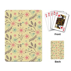 Seamless Spring Flowers Patterns Playing Card