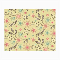 Seamless Spring Flowers Patterns Small Glasses Cloth (2-Side)
