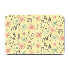 Seamless Spring Flowers Patterns Small Doormat