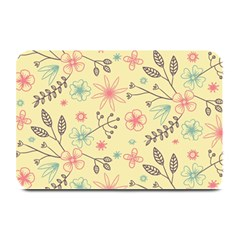 Seamless Spring Flowers Patterns Plate Mats