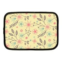 Seamless Spring Flowers Patterns Netbook Case (Medium)