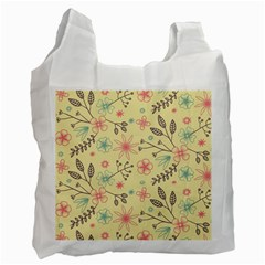 Seamless Spring Flowers Patterns Recycle Bag (Two Side)