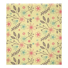 Seamless Spring Flowers Patterns Shower Curtain 66  x 72  (Large)