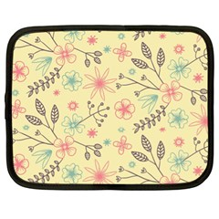 Seamless Spring Flowers Patterns Netbook Case (XL)