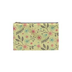 Seamless Spring Flowers Patterns Cosmetic Bag (Small)