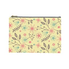 Seamless Spring Flowers Patterns Cosmetic Bag (Large)