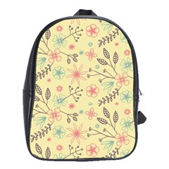 Seamless Spring Flowers Patterns School Bags(Large)