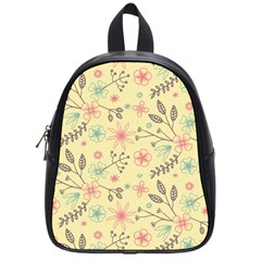 Seamless Spring Flowers Patterns School Bags (Small)