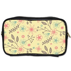 Seamless Spring Flowers Patterns Toiletries Bags 2-Side