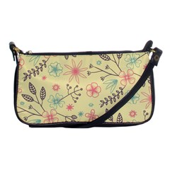 Seamless Spring Flowers Patterns Shoulder Clutch Bags