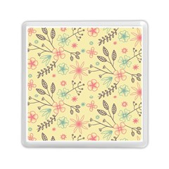 Seamless Spring Flowers Patterns Memory Card Reader (Square)