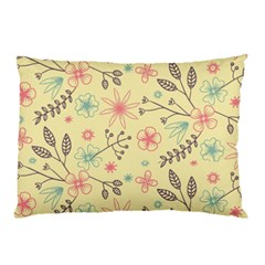 Seamless Spring Flowers Patterns Pillow Case (Two Sides)