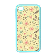 Seamless Spring Flowers Patterns Apple iPhone 4 Case (Color)