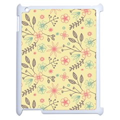 Seamless Spring Flowers Patterns Apple iPad 2 Case (White)
