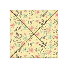 Seamless Spring Flowers Patterns Acrylic Tangram Puzzle (4  x 4 )