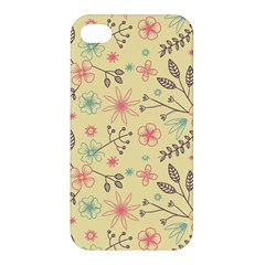 Seamless Spring Flowers Patterns Apple iPhone 4/4S Premium Hardshell Case