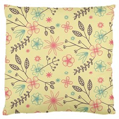 Seamless Spring Flowers Patterns Large Cushion Case (Two Sides)