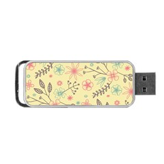 Seamless Spring Flowers Patterns Portable USB Flash (One Side)
