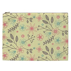 Seamless Spring Flowers Patterns Cosmetic Bag (XXL)