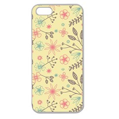 Seamless Spring Flowers Patterns Apple Seamless iPhone 5 Case (Clear)