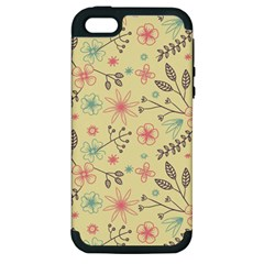 Seamless Spring Flowers Patterns Apple iPhone 5 Hardshell Case (PC+Silicone)