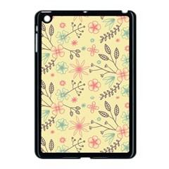 Seamless Spring Flowers Patterns Apple iPad Mini Case (Black)