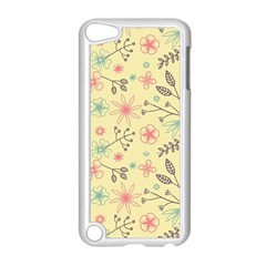 Seamless Spring Flowers Patterns Apple iPod Touch 5 Case (White)