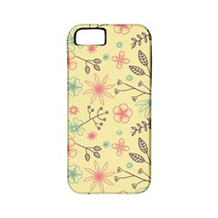 Seamless Spring Flowers Patterns Apple iPhone 5 Classic Hardshell Case (PC+Silicone)
