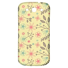 Seamless Spring Flowers Patterns Samsung Galaxy S3 S III Classic Hardshell Back Case