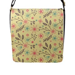 Seamless Spring Flowers Patterns Flap Messenger Bag (L)
