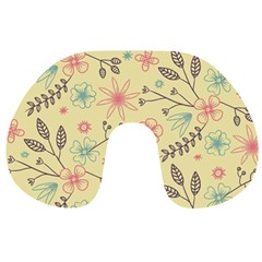 Seamless Spring Flowers Patterns Travel Neck Pillows