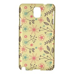 Seamless Spring Flowers Patterns Samsung Galaxy Note 3 N9005 Hardshell Case