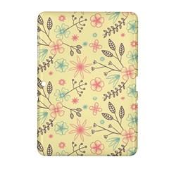 Seamless Spring Flowers Patterns Samsung Galaxy Tab 2 (10.1 ) P5100 Hardshell Case