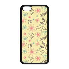 Seamless Spring Flowers Patterns Apple iPhone 5C Seamless Case (Black)