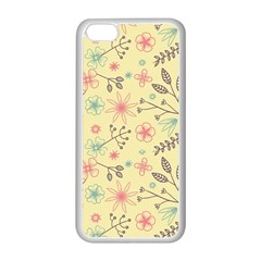 Seamless Spring Flowers Patterns Apple iPhone 5C Seamless Case (White)