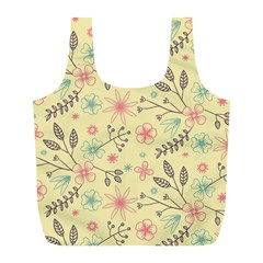 Seamless Spring Flowers Patterns Full Print Recycle Bags (L)