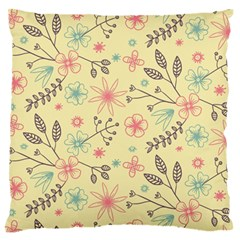 Seamless Spring Flowers Patterns Standard Flano Cushion Case (One Side)
