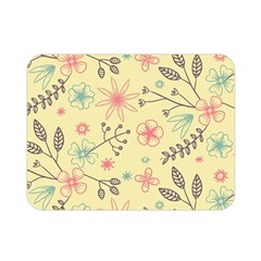 Seamless Spring Flowers Patterns Double Sided Flano Blanket (Mini)