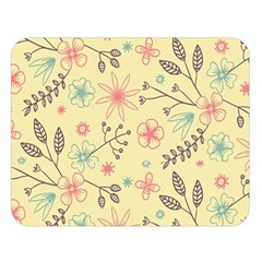 Seamless Spring Flowers Patterns Double Sided Flano Blanket (Large)