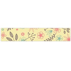 Seamless Spring Flowers Patterns Flano Scarf (large)