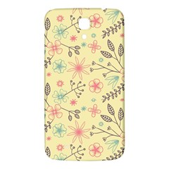 Seamless Spring Flowers Patterns Samsung Galaxy Mega I9200 Hardshell Back Case