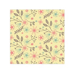 Seamless Spring Flowers Patterns Small Satin Scarf (Square)