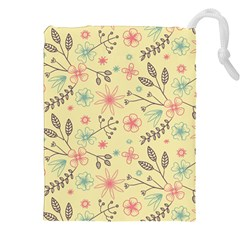 Seamless Spring Flowers Patterns Drawstring Pouches (XXL)