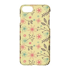 Seamless Spring Flowers Patterns Apple Iphone 7 Hardshell Case
