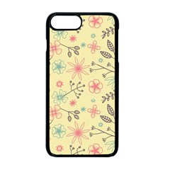 Seamless Spring Flowers Patterns Apple iPhone 7 Plus Seamless Case (Black)