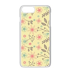 Seamless Spring Flowers Patterns Apple Iphone 7 Plus White Seamless Case