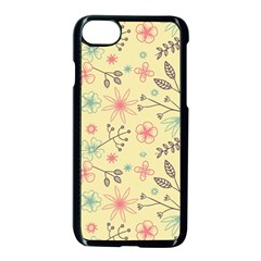 Seamless Spring Flowers Patterns Apple Iphone 7 Seamless Case (black)